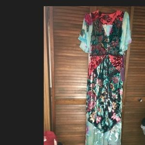 Anthropologie long dress gown